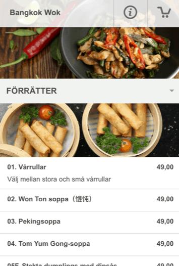 Bangkok Wok Uddevalla - Beställa thai mat och kinesiska mat online